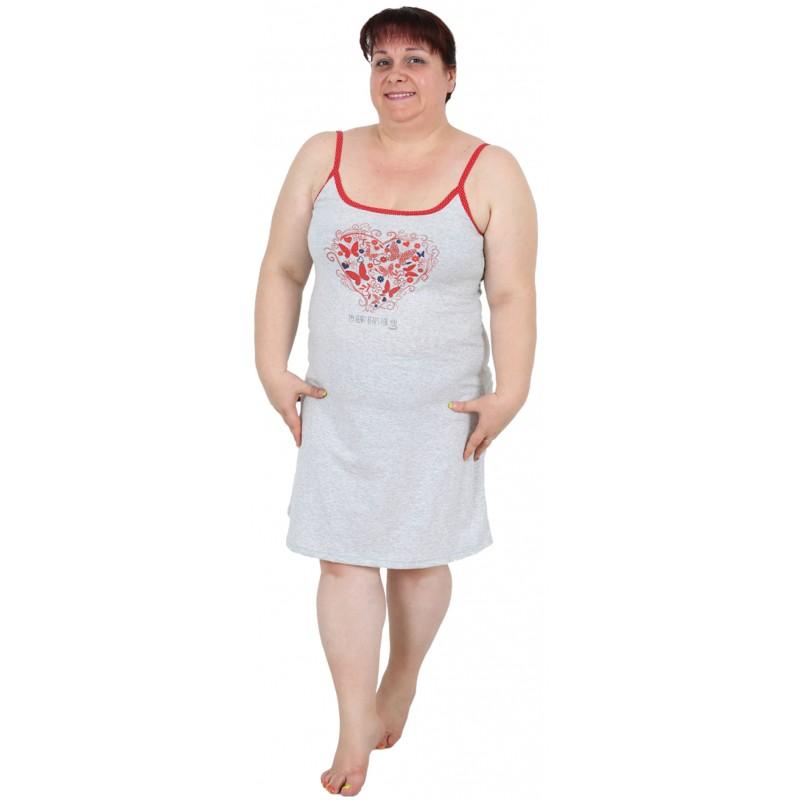 Conjunto Talla Grande Bata Y Camison Mujer Heart Moda Y Pijamas