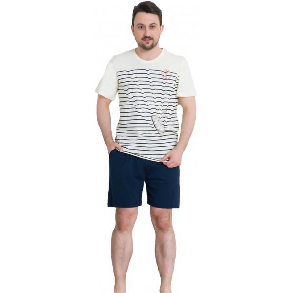 Pijama Hombre Corto Manga Corta Escudo Ancla