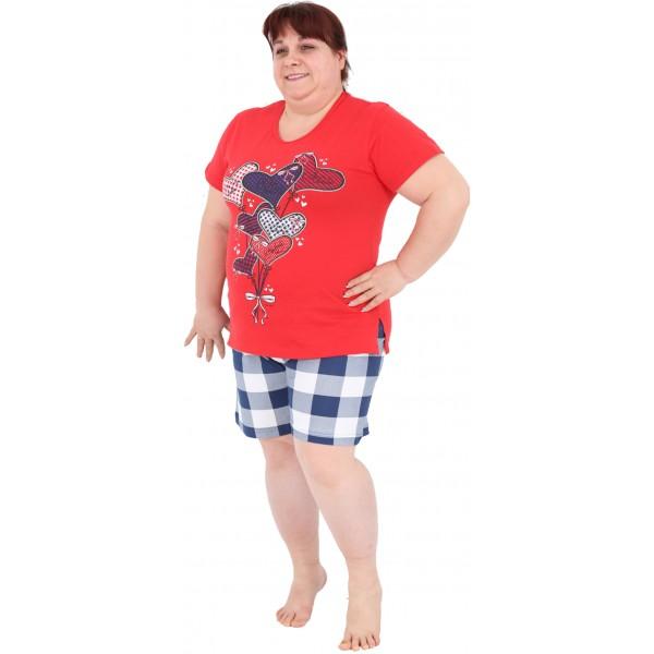 Pijama Talla Grande Corto Manga Corta Mujer Globo