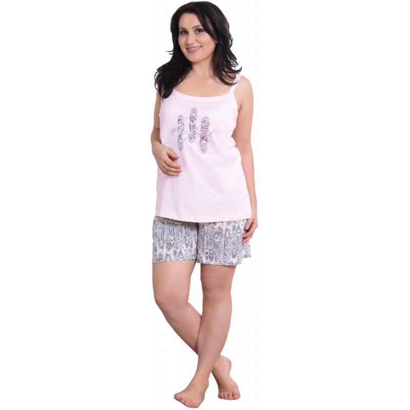 Tres Pijama Manga Grande Y Moda Talla Corto Tirantes Plumas Mujer l53uFK1cTJ