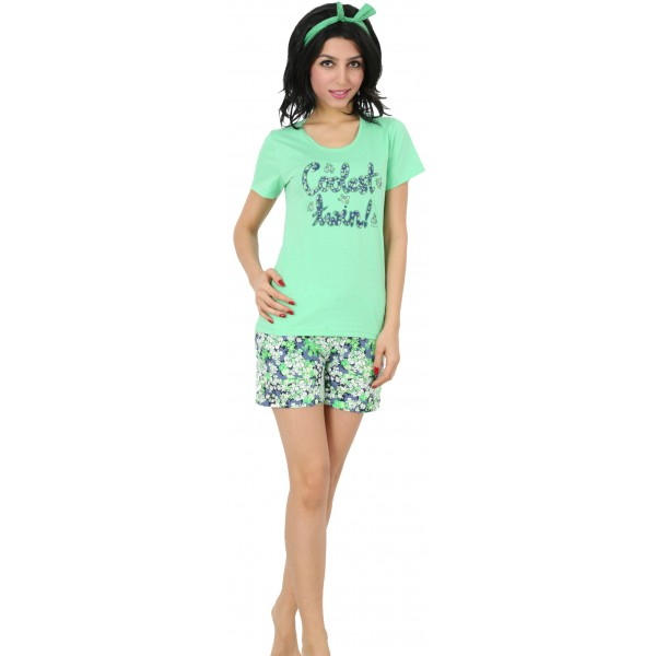 Pijama Corto Manga Corta Mujer Coolest
