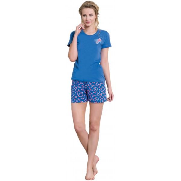 Pijama Corto Manga Corta Mujer Flores