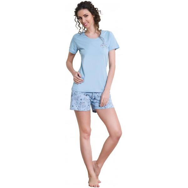 Pijama Corto Manga Corta Mujer Perro Sabueso