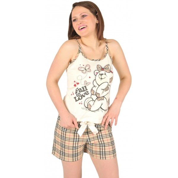 Pijama Corto Manga Tirante Mujer Burberry