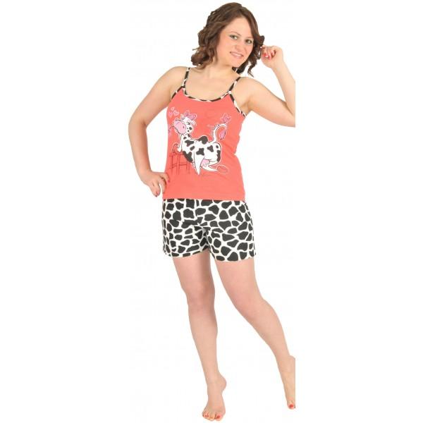 Pijama Corto Manga Tirante Mujer Vaca
