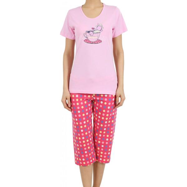 Pijama Pirata Manga Corta Mujer Oveja Taza