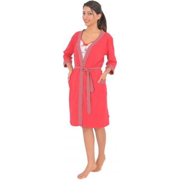 Conjunto de Mujer de Bata y Camisola Lazos