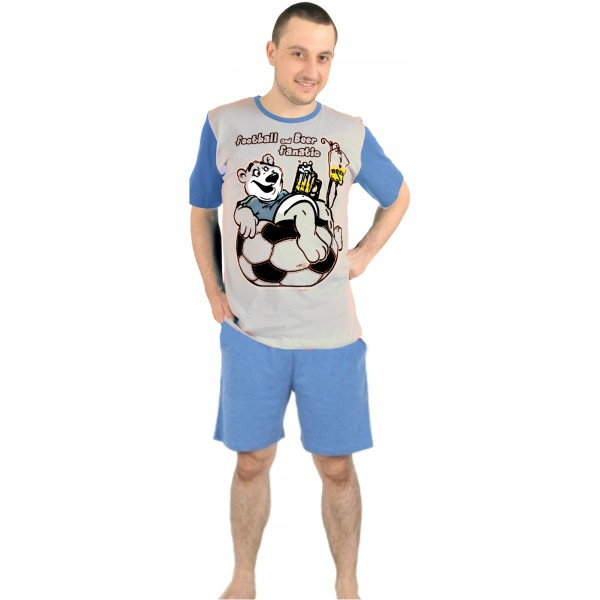 Pijama Hombre Corto Futbol