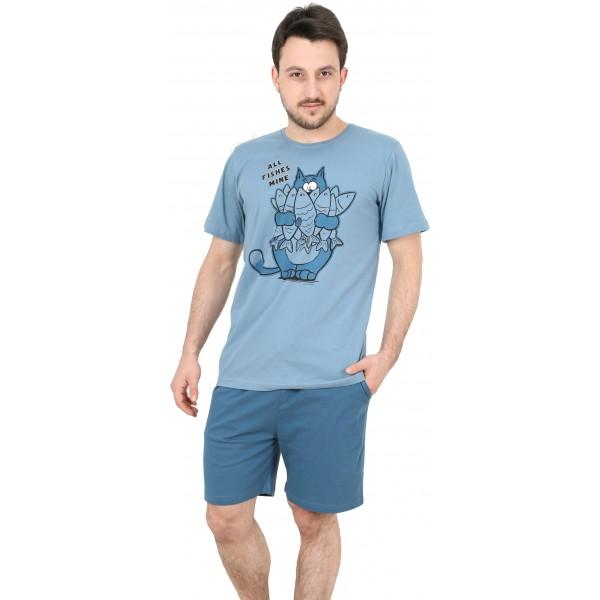 Pijama Hombre Corto Pesca