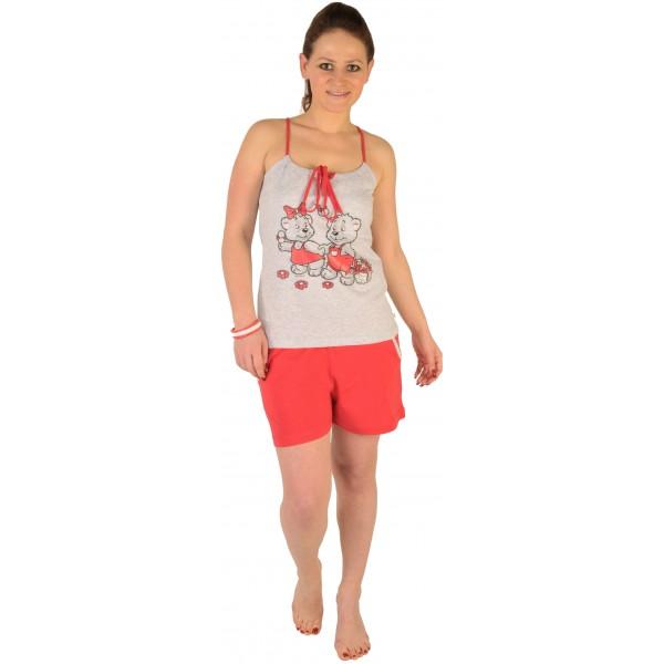 Pijama de Mujer Corto Tirantes Oso Enamorado