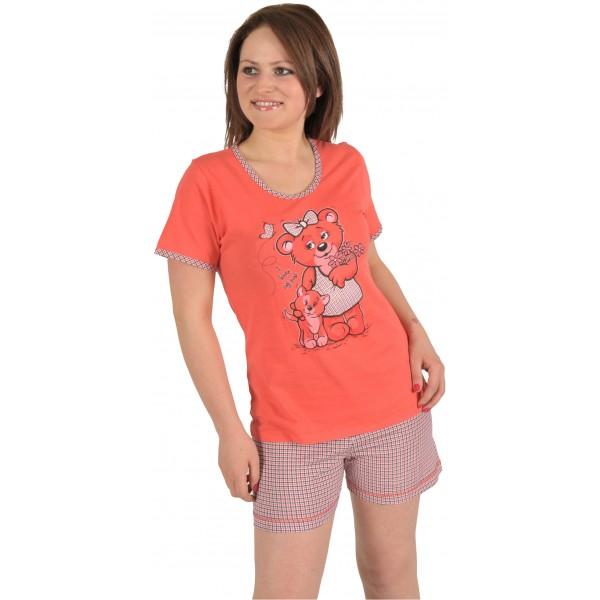 Pijama Corto Manga Mujer Osita
