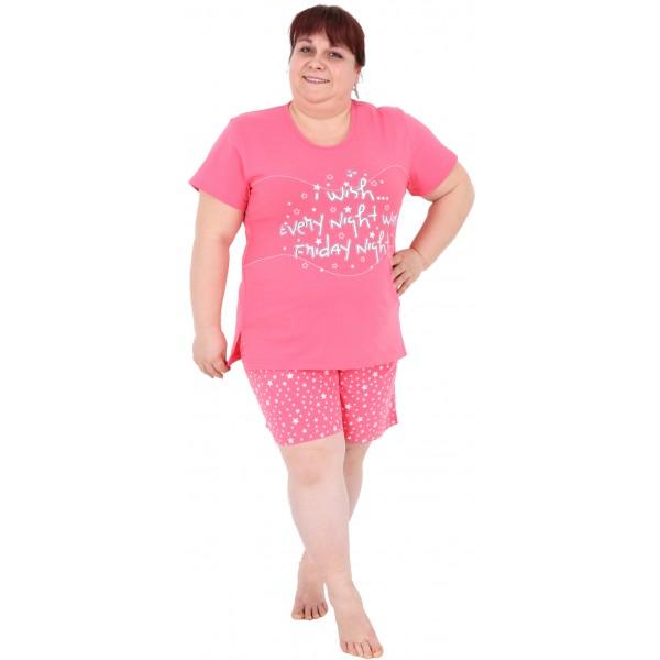 Pijama Talla Grande Corto Mujer Estrellas