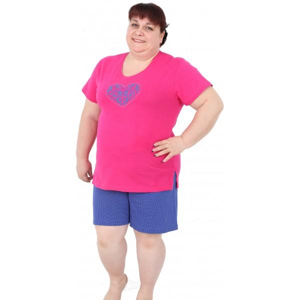 Pijama de Mujer Corto Talla Grande Corazón