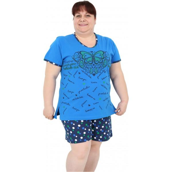 Pijama Talla Grande Corto Mujer Mariposa Lunar