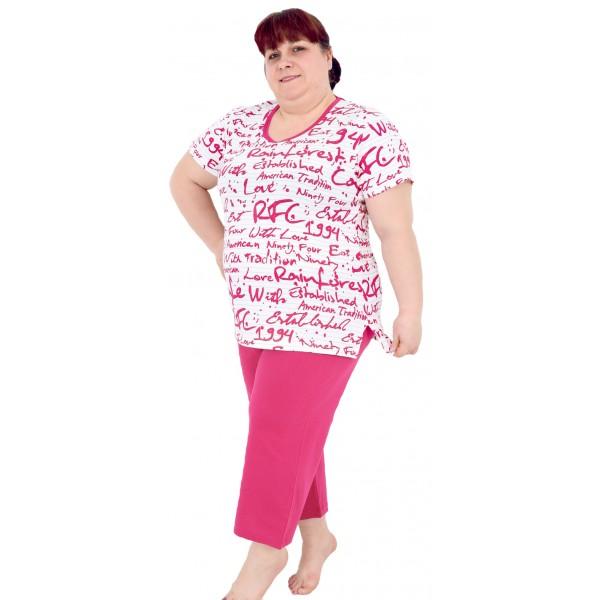 Pijama de Mujer Pirata Talla Grande Letras