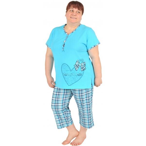 Pijama Talla Grande Pirata Manga Corta Mujer Corazon