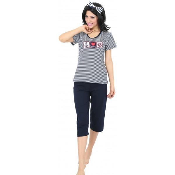 Pijama Pirata Manga Corta Mujer Marine
