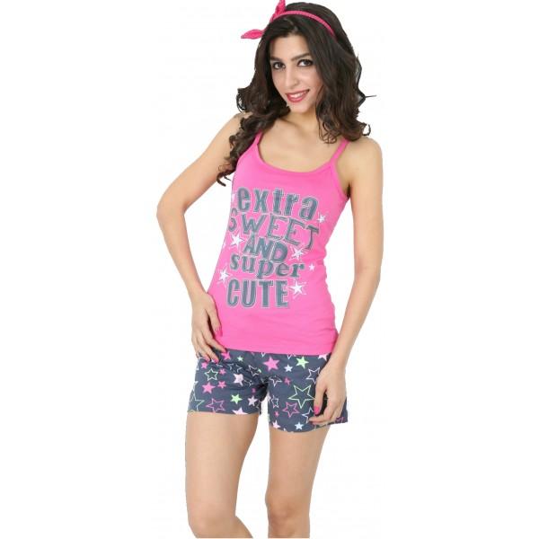 Pijama Corto Manga Tirantes Mujer Extra Sweet
