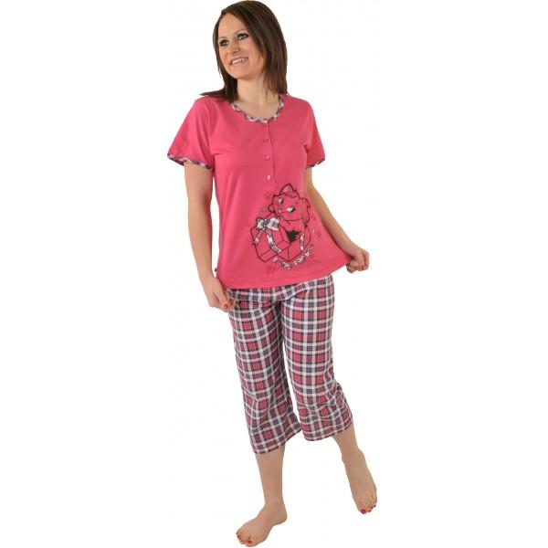 Pijama Pirata Talla Grande Mujer Gata Botones