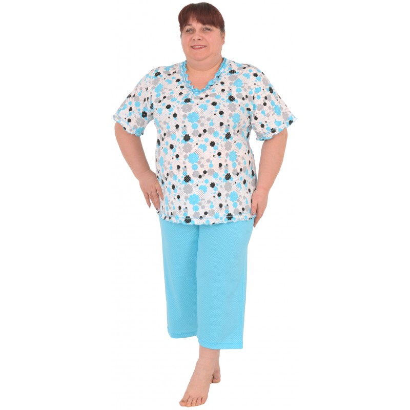35fac338a39 Pijama Talla Grande Pirata Mujer Flor - Moda y Pijamas