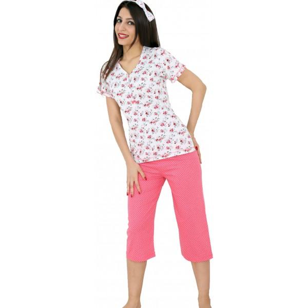 Pijama Pirata Manga Corta Mujer Clasico Pico