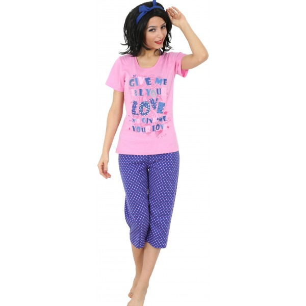 Pijama Pirata Manga Corta Mujer Your Love