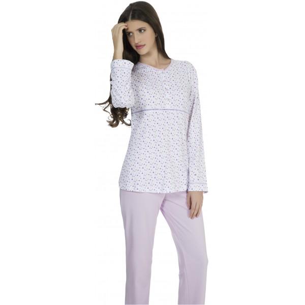 Pijama Largo Manga Larga Mujer Formas