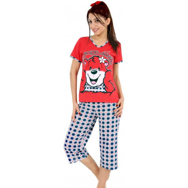 Pijama Pirata Manga Corta Mujer Osito Always