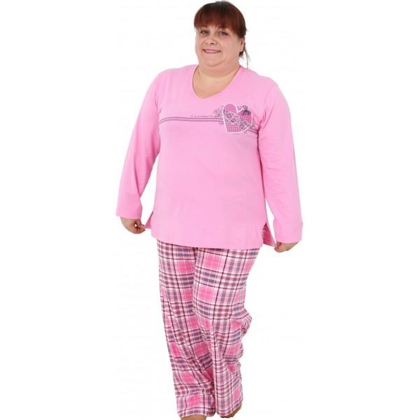 Pijama Talla Grande Manga Larga Mujer Corazón Regalo