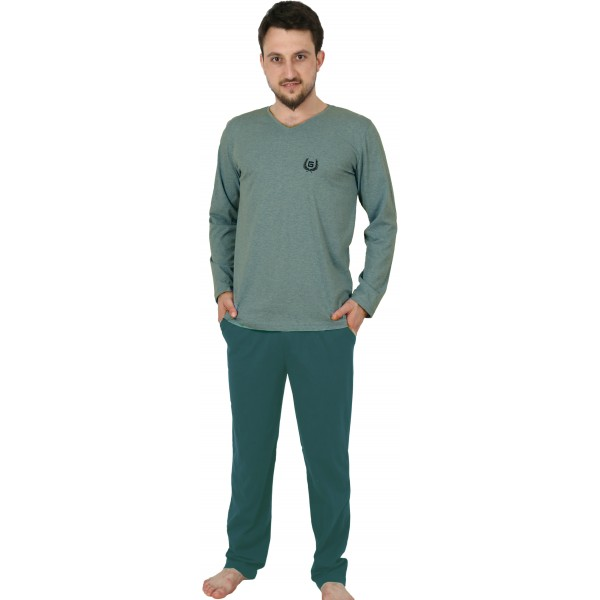 Pijama Hombre Largo Clásico Pico