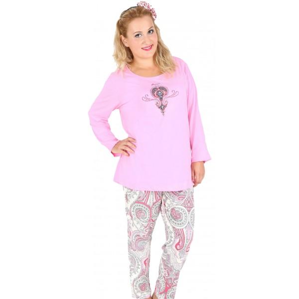 Pijama Talla Grande Largo Mujer Etnico