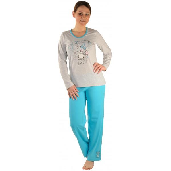 Pijama Largo Manga Larga Mujer Conejita