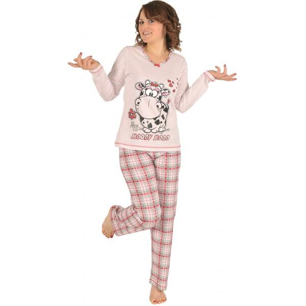 Pijama Largo Manga Larga Mujer Vaca
