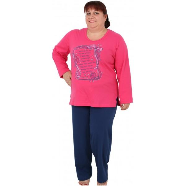 Pijama Talla Grande Largo Mujer Carta de Amor