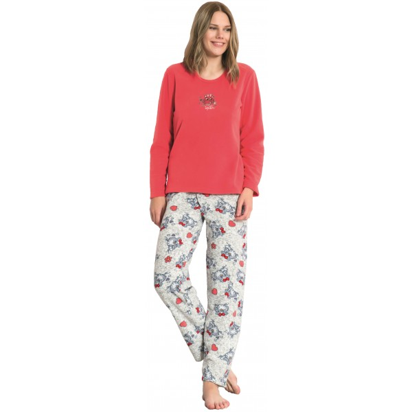 Pijama de Mujer Largo Manga Larga Polar Together