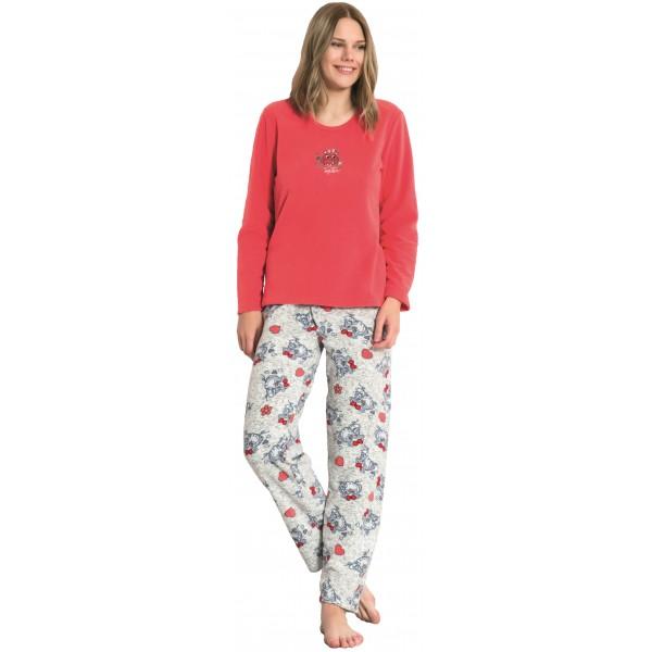 Pijama de Mujer Largo Manga Larga Polar Together