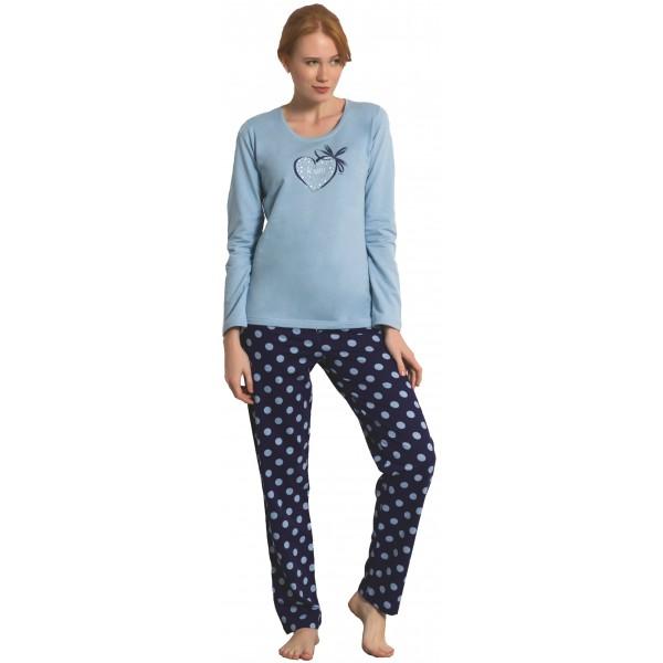 Pijama Perchado/Felpa Largo Manga Larga Mujer BeHappy