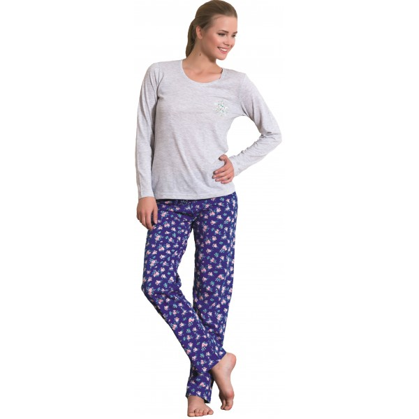 Pijama de Mujer Largo de Manga Larga