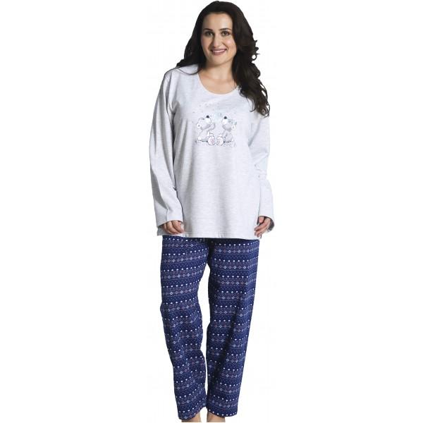 Pijama Talla Grande Perchado/Felpa Largo de Manga Larga Mujer Make Wish
