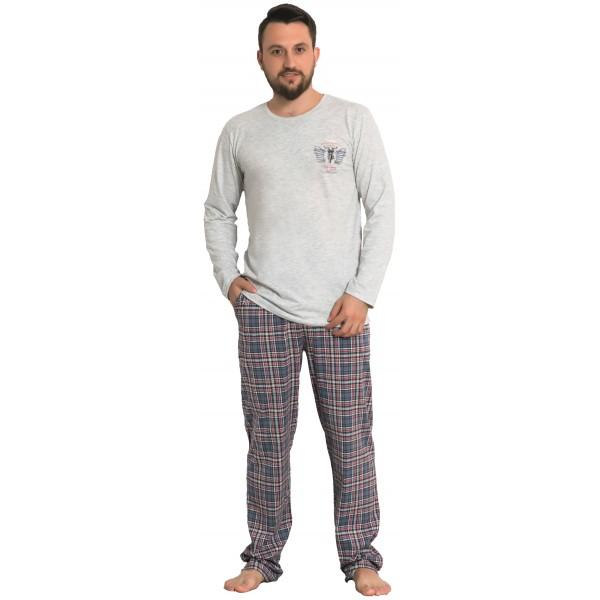 Pijama Hombre Largo Manga Larga Escudo Moto