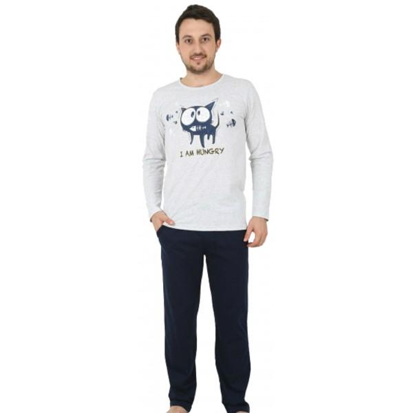 Pijama Hombre Largo Gato