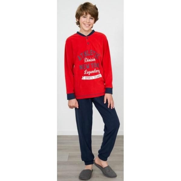 Pijama Polar Largo Manga Larga Niño Athletic