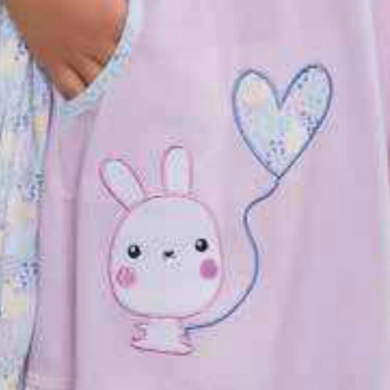 22eb181b3b Conjunto niña Bata Camison Comunion Estampado - Moda y Pijamas