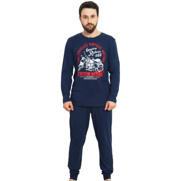 Pijama Hombre Largo Moto Puño