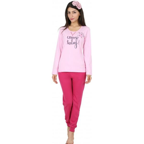 Pijama de Mujer Largo Manga Larga Enjoy Today Puño