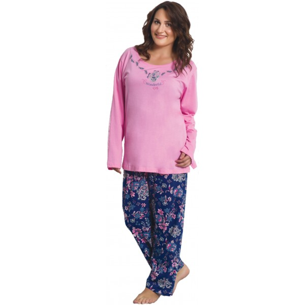 Pijama Talla Grande Manga Larga Mujer Wonderful