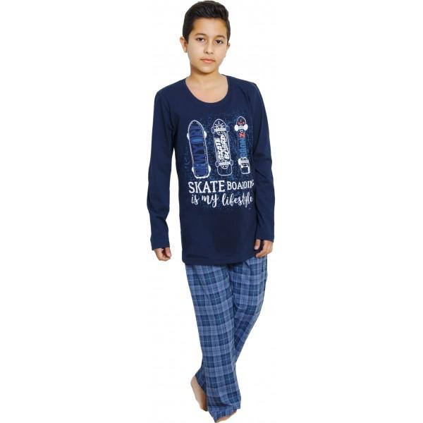 Pijama Manga Larga Niño Patinete
