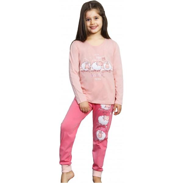 Pijama Manga Larga Niña Puño Ovejas