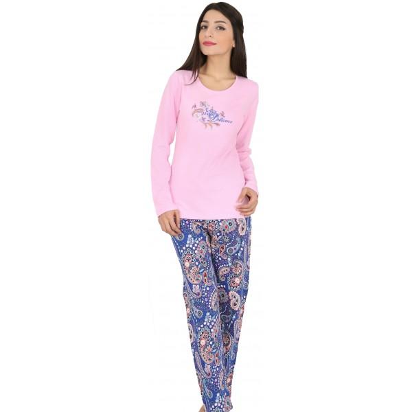Pijama Perchado/Felpa Largo Manga Larga Mujer Dreams