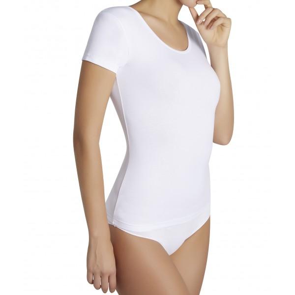 Camiseta Mujer Manda Corta Algodon Basica